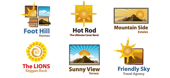 Free Sun Logo Template Set