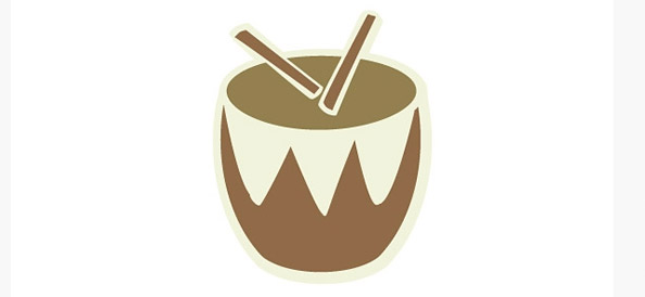 Drum Logo Vector Template for Music & Instruments
