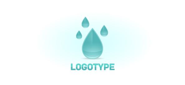 Raindrop Logo Design Template