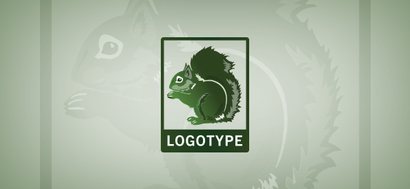 Squirrel Logo Template