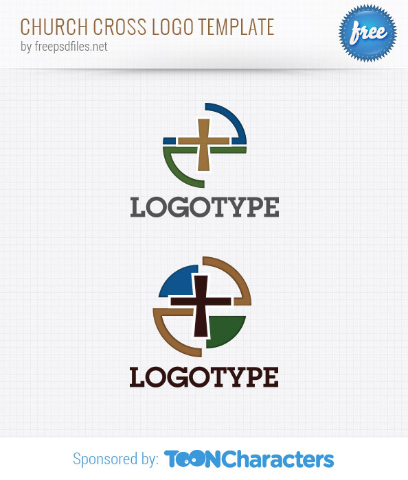 Church Cross Logo Template