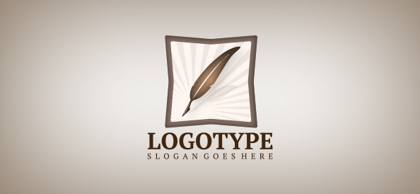 Feather Logo Template