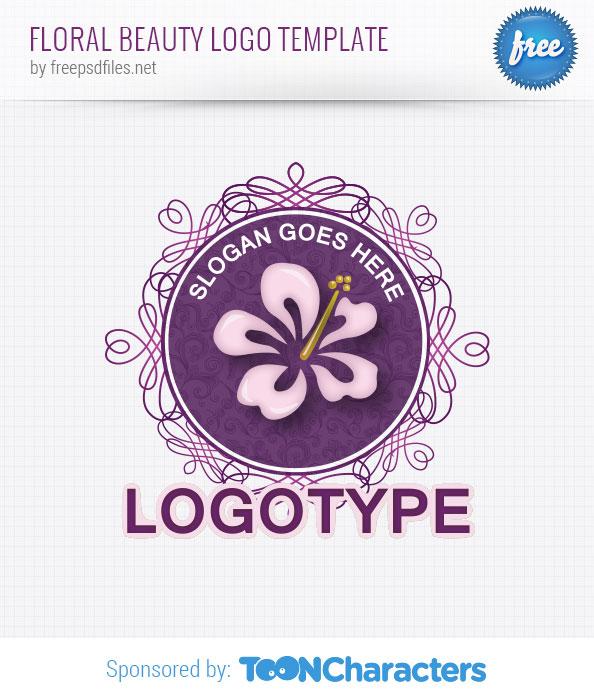 Floral Beauty Logo Template - Free Logo Design Templates - photo #37