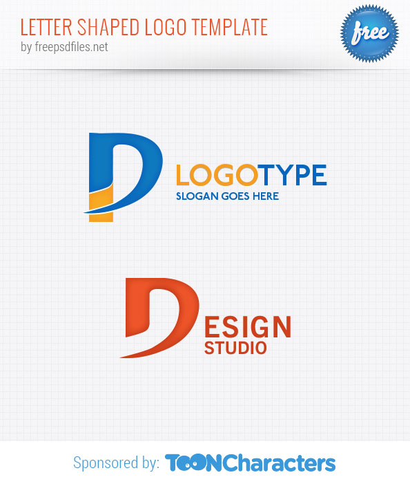 Letter Shaped Logo Template