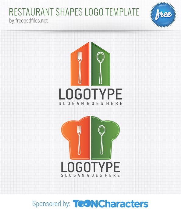 Restaurant shapes logo template