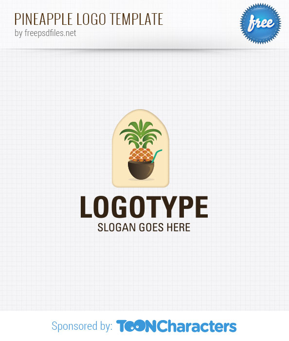 Pineapple Logo Template
