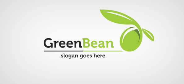 Green bean logo template free logo design templates for Design a company logo free templates