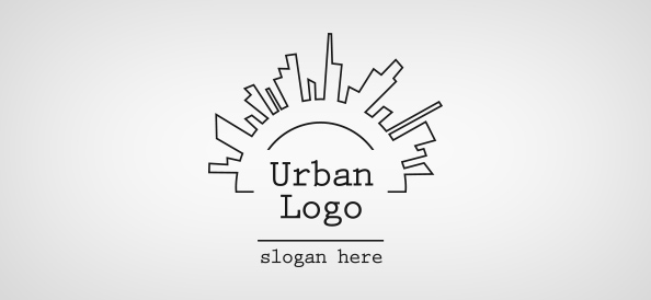 Urban logo template free logo design templates for Design a company logo free templates