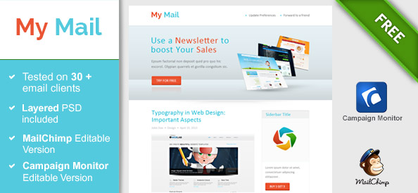 Abstract HTML Newsletter Template Free Mail Templates - Campaign monitor html templates