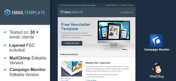 Ecommerce Email Template Free Mail Templates