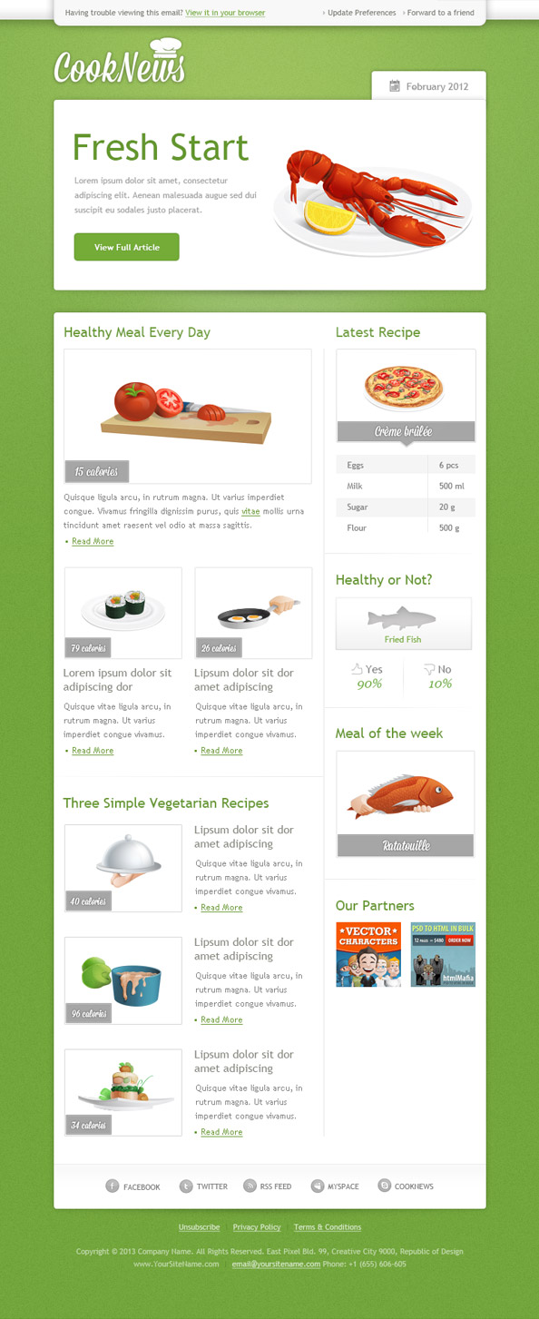 Green Email Template Preview
