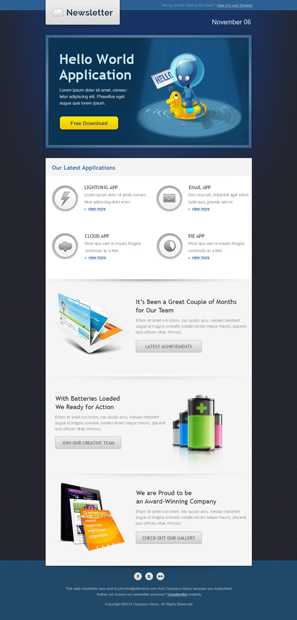 Hello World Email Template Preview