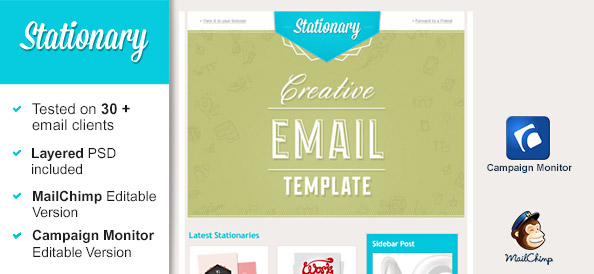 Stationary Email Template