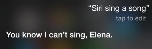 Siri sings