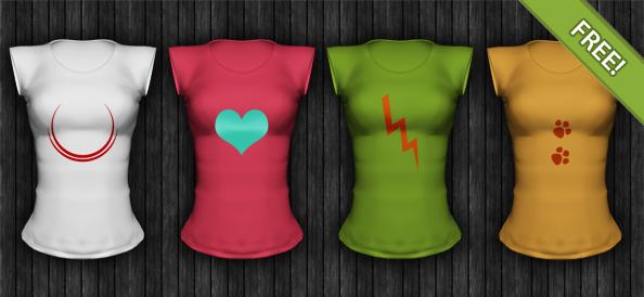 Ladies Short Sleeved Shirt Template