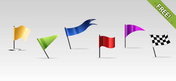6 Flag Icons