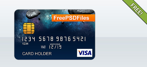 Free PSD Credit Card Template