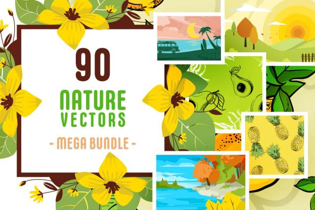 Nature Vectors Mega Bundle