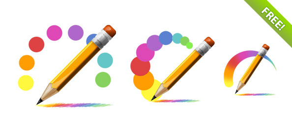 Free PSD Pencil Icons