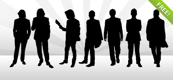 9 Man Silhouettes