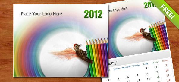 Free PSD Wall Calendar 2012