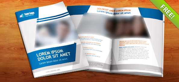 Free PSD Booklet Template – 8 Pages