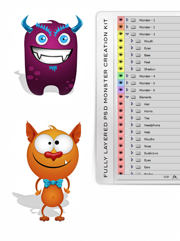 PSD Monster Creation Kit