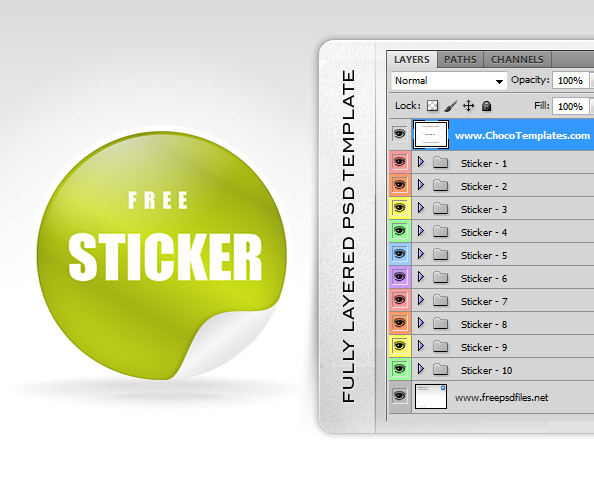 Fully Layered Sticker Templates