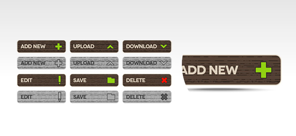 Functional PSD Buttons