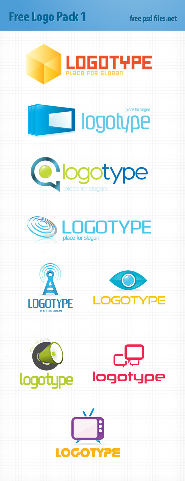 PSD Logo Design Templates Pack 1 Preview Big