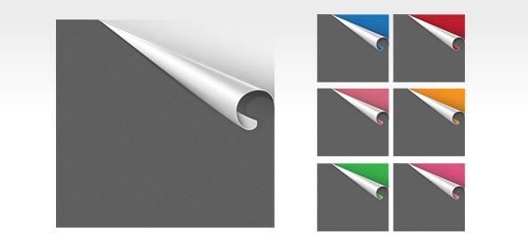 7 Free PSD Ribbon Corner Templates