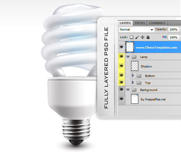 Fully Layered PSD Economic Lamp
