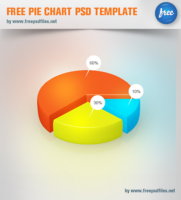 free pie chart psd template designed in 3d style pie charts are the universal way for presenting information thats why we decided to come up with a pie