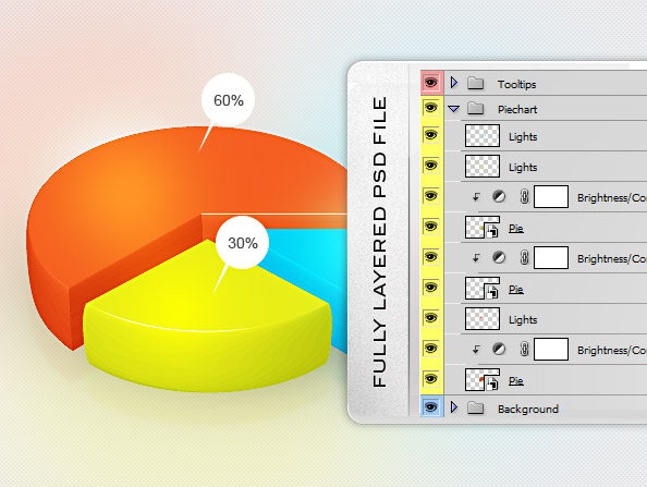 free pie chart psd template free psd files rh freepsdfiles net PSD Anime Lightning PSD