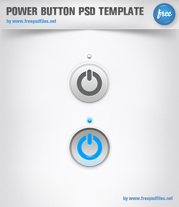 Power Button PSD Template Preview Big