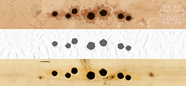 Bullet Holes PSD Graphic