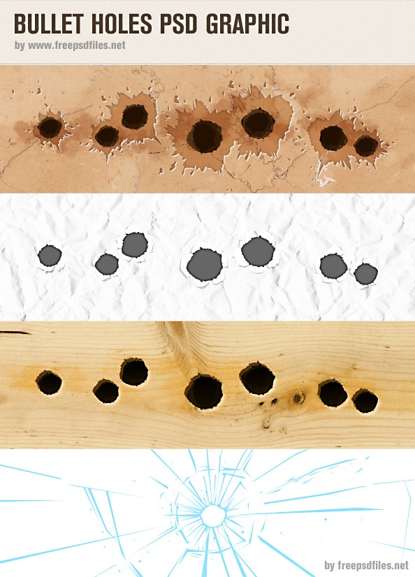 Bullet Holes PSD Graphic Preview