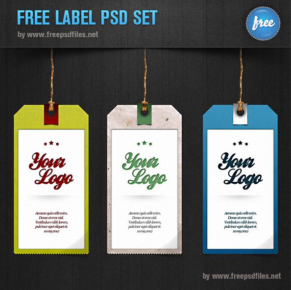 Label PSD Set Preview
