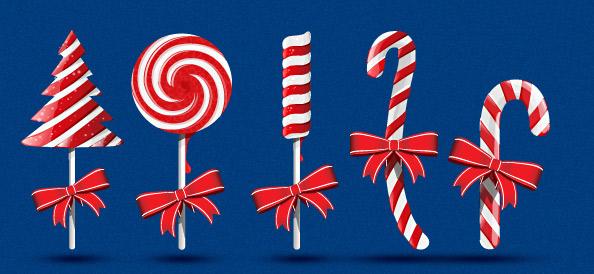 Christmas Candy PSD Graphics