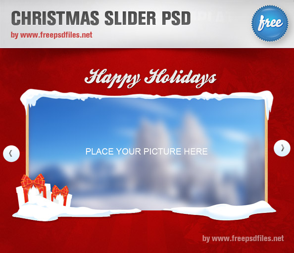 Christmas Slider PSD Template Free PSD Files