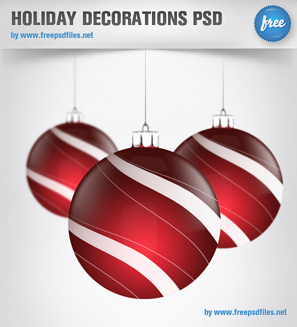 Holiday Decorations PSD Graphics Preview