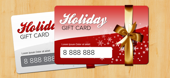 Holiday Gift Card PSD Template