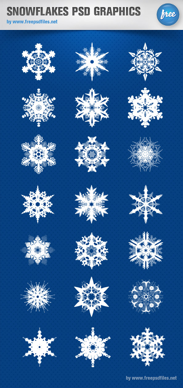 Snowflakes PSD Set Preview Big