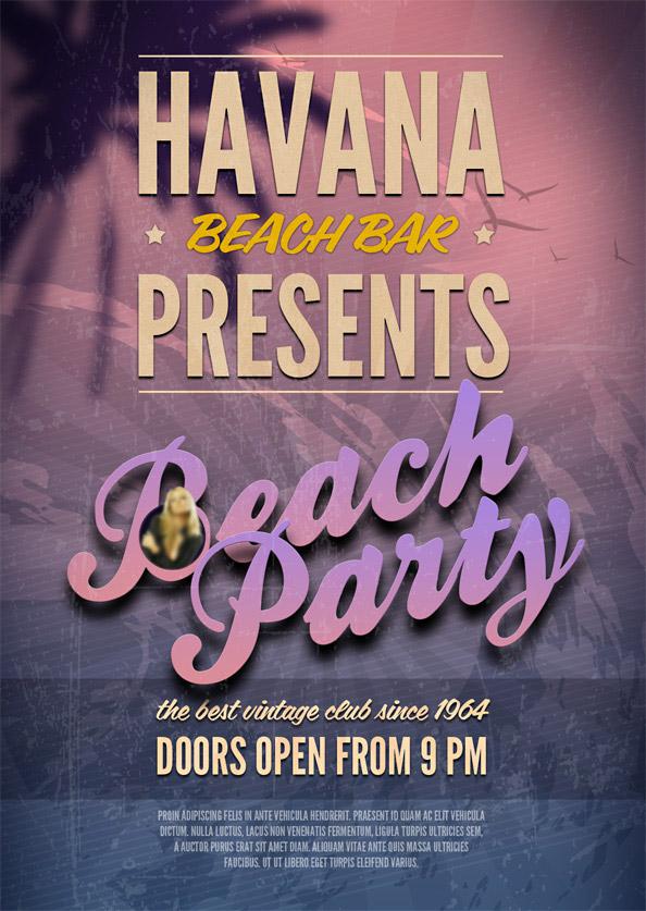 Beach Party PSD Flyer Template