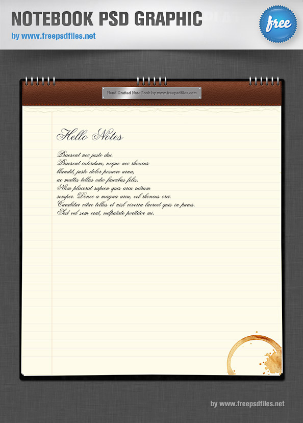 Notebook PSD Graphic Preview