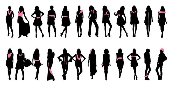 Fashionable Women Silhouettes Set 1 Preview