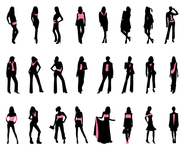 Fashionable Women Silhouettes Set 2 Preview