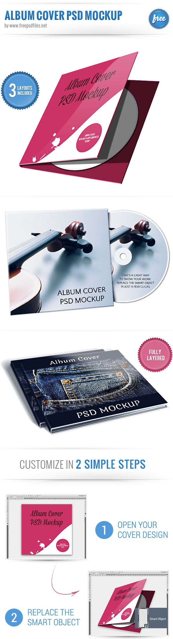 Album Cover PSD Mockup