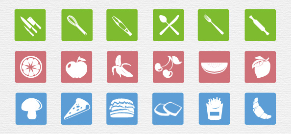 Food Icons PSD Set