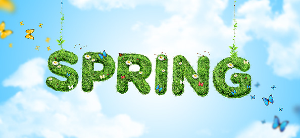 Spring Background PSD